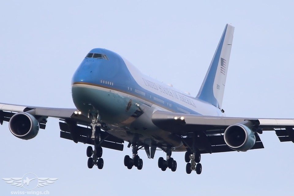 Air Force One in Zürich-Kloten